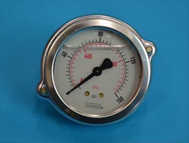 水圧計 オイル入り/留め金付き